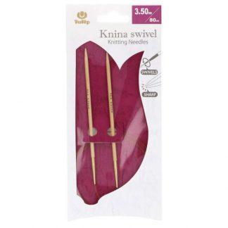 Knina Bamboo Swivel Knitting Needles